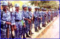Datta jayanthi :Tight police security in Chickmagalur