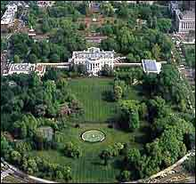 white house- ariel view