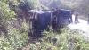 ಕಾರವಾರ: ಸಚಿವ ದೇಶಪಾಂಡೆ ಬೆಂಗಾವಲು ವಾಹನ ಪಲ್ಟಿ