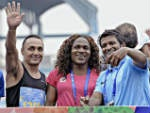 Puneeth Rajkumar at the event of TCS World 10K Marathon