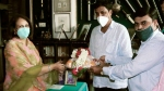 ಕೆಆರ್ ಎಸ್ ಮುಂಭಾಗ ಒಡೆಯರ್, ಸರ್ ಎಂವಿ ಪ್ರತಿಮೆ ಸ್ಥಾಪನೆ; ರಾಜಮಾತೆ ಹರ್ಷ