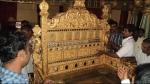 ಮೈಸೂರು ದಸರಾ 2020: ಅರಮನೆಯಲ್ಲಿ ಸಿಂಹಾಸನ ಜೋಡಣಾ ಕಾರ್ಯಕ್ಕೆ ಚಾಲನೆ
