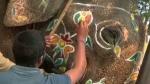ದಸರಾ ಜಂಬೂಸವಾರಿ: ಬಣ್ಣಗಳ ಚಿತ್ತಾರದಿಂದ ಕಂಗೊಳಿಸುತ್ತಿರುವ ಗಜಪಡೆ