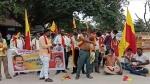 ಕರ್ನಾಟಕ ಬಂದ್: ಚಿತ್ರದುರ್ಗದಲ್ಲಿ ಅರೆಬೆತ್ತಲೆ ಪ್ರತಿಭಟನೆ