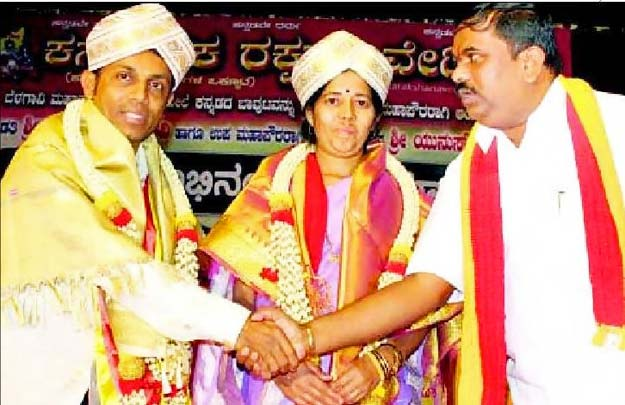 Belagavi Mayor gets felicitation from Karave