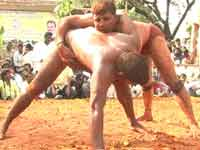 Wretling competition in Magadi
