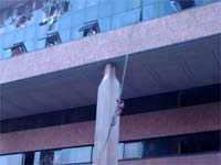 Fire accident in Carlton tower, Bangalore