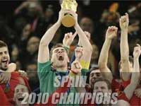 Spain lifts FIFA WC 2010