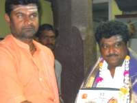Jaggesh felicitated by Channabasava Mahaswamy
