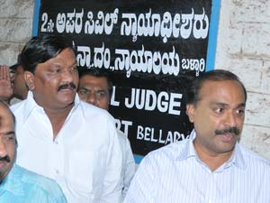 Janardhana Reddy appears before court