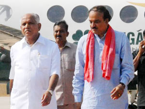 BS Yeddyurappa and Ananthkumar