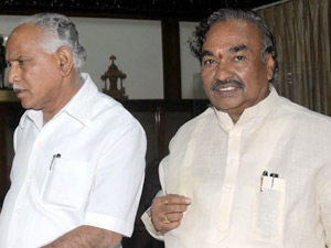 KS Eshwarappa Prays for BSY