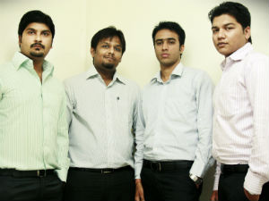 Sandesh and co-founders of National Olympiad Foundation