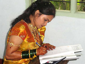 bride-kalashree-skips-marriage-feast-writes-exam