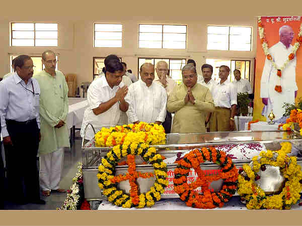 Ex-RSS chief KS Sudarshan no more