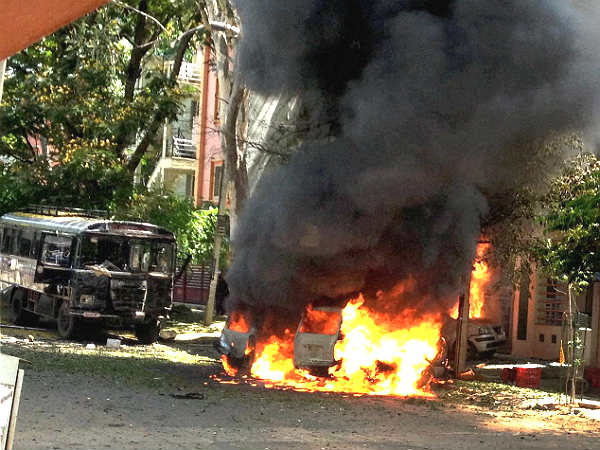 Banglore car bomb blast 3 suspects held