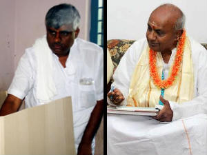 HD Revanna turns EVM table thrice after casting ballot!