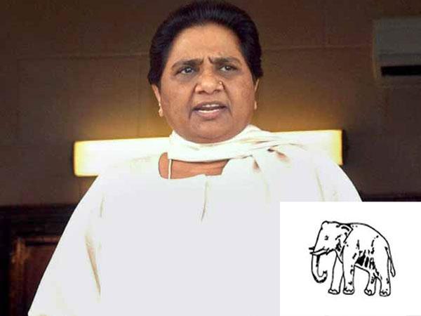 Poster Showing Mayawati As Goddess Kali Riles Bjp