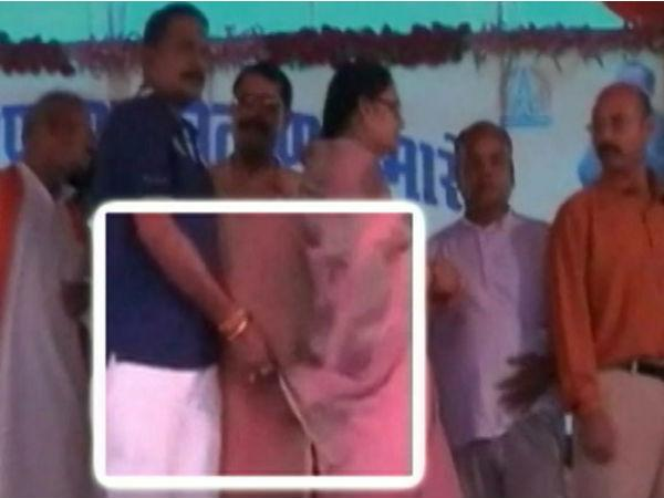 "'Wiping clean': MLA Dinesh Rai plays ""little joke"" with former MLA Neeta Pateriya's saree!"
