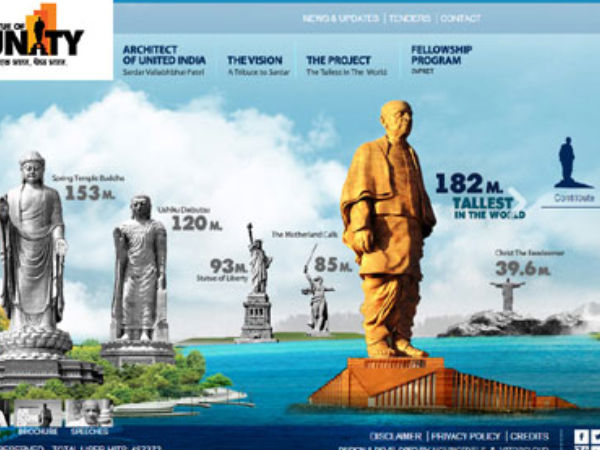 'Statue of Unity' construction work