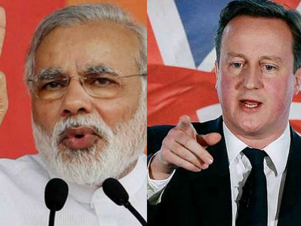 David Cameron invites Modi to Britain, says won't interfere in the Kashmir issue