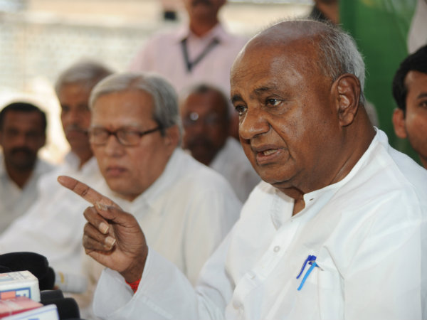 HD Deve Gowda on Alliance with Left Parties Zilla and Taluk Panchayat Election