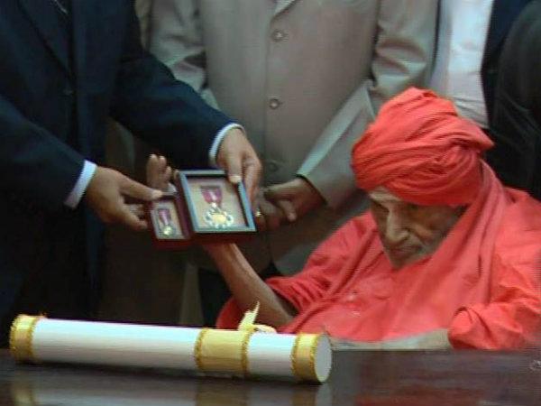 Siddaganga Sri Conferred With Padma Bhushan Award In Tumakuru