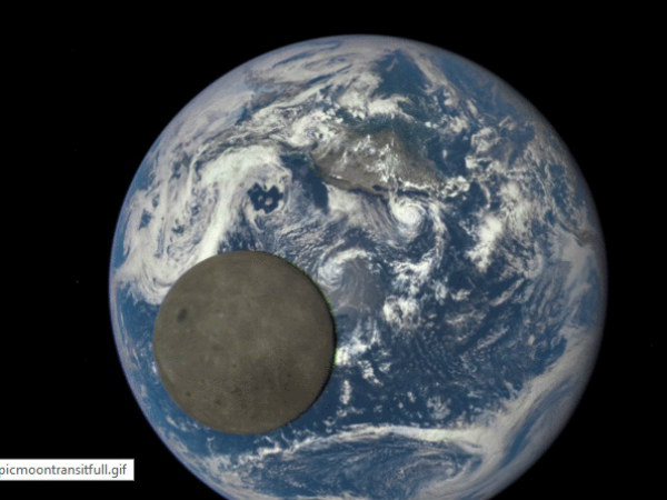 NASA Shows Moon Crossing Face of Earth