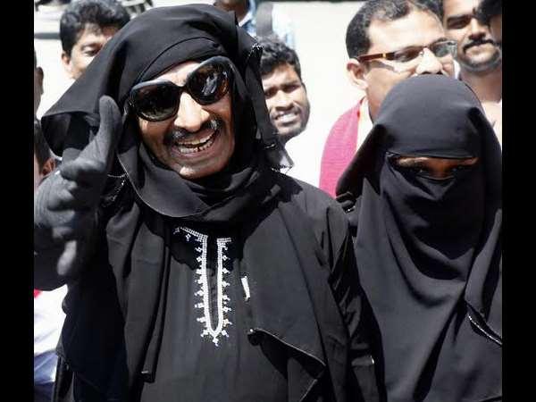 Burkha Clad Vatal Nagaraj Protest Against Rape Cases In Bengaluru