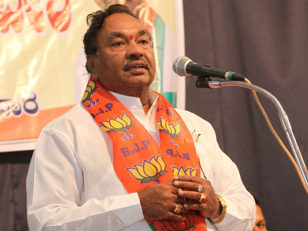 BJP Leader Eshwarappa told opposite reaction about rape incidents