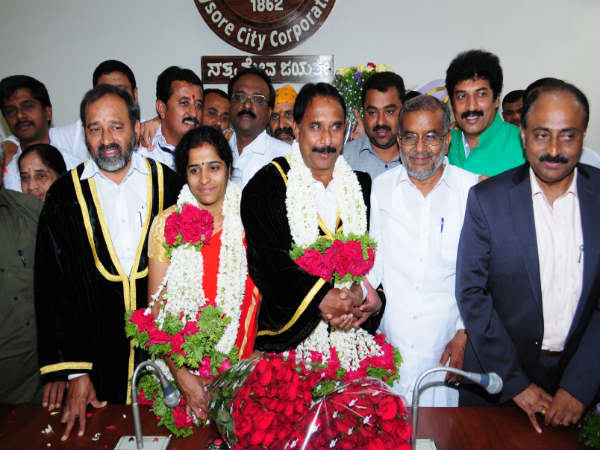 B.l Byrappa and Vanitha Prasanna is the Mayor and Deputy Mayor of Mysuru city corporation
