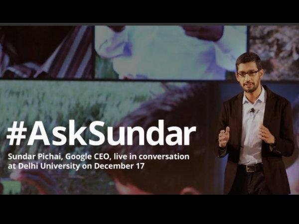 Asksundar Tweets Trend Sundar Pichai Interactive Session Srcc Delhi