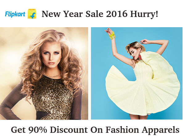 Flipkart New Year Sale: Get 90% Discount On Fashion Apparels