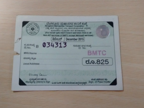 Effective from February 1st, BMTC stopped black board monthly passes