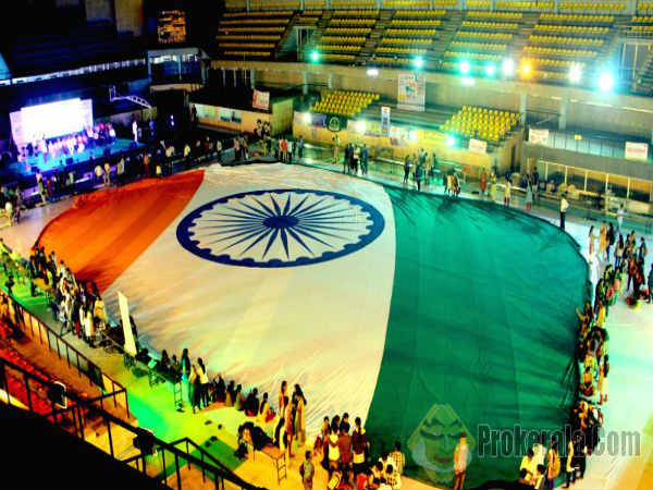 33750 sq feet long Indian National flag stitched in Bengaluru