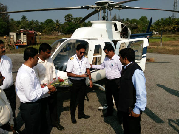 Helicopter tourism lanched by Tourism department, Udupi