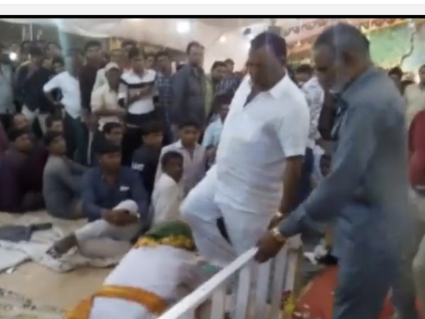 BJP MP Radadiya 'kicking' elderly man in Gujarat