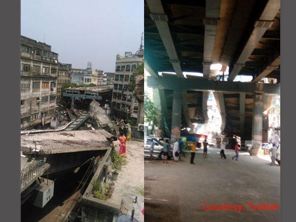 Kolkata mishap: 14 killed after flyover collapses, CM at site