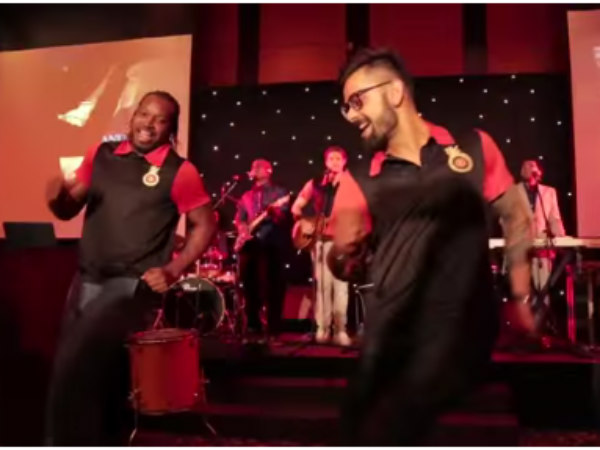 Chris Gayle back in India, dances up a storm with Virat Kohli