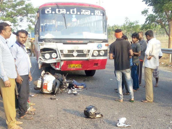 Two engineering students die as KSRTC bus hits scooter