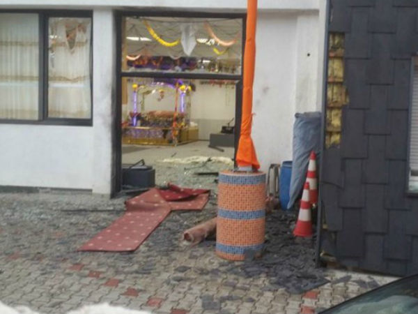 Explosion at Sikh Temple, Essen in Germany