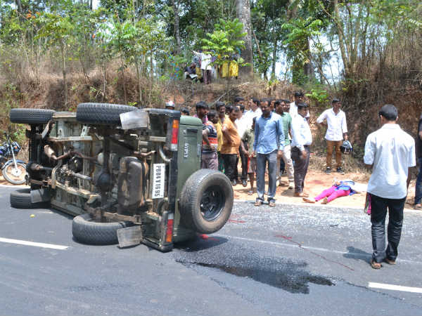 Road accident near Madikeri, 2 die