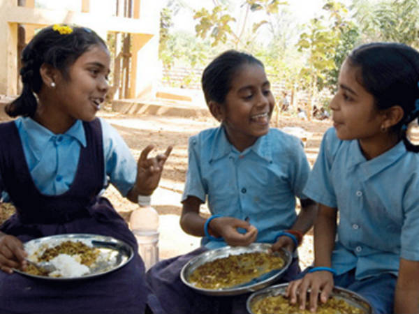 Nutritious mid day meal to govt school Children