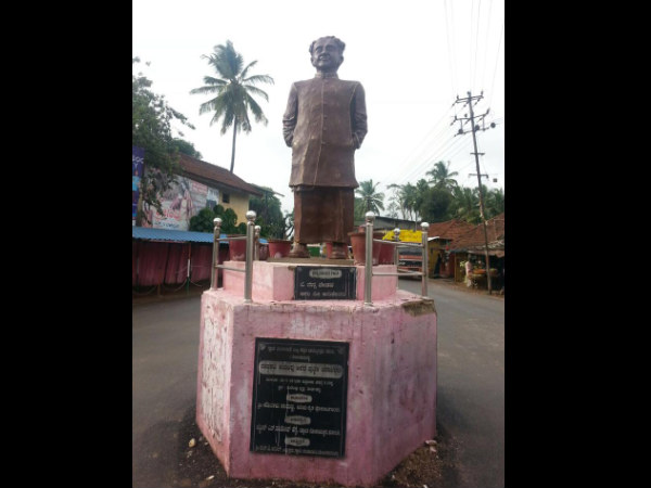 Vishwamanava Statue in Thirthahalli an insult to Kuvempu
