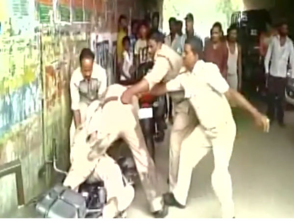 Caught on Camera: Policemen fight in public allegedly over bribe share