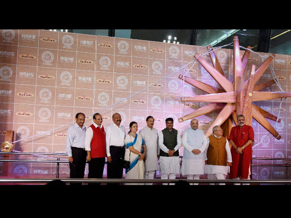 World's largest charkha unveiled at T3 airport