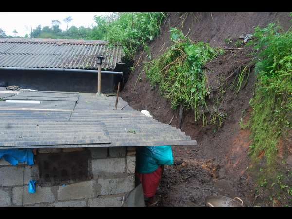 Rain havoc in Madikeri, many houses damaged