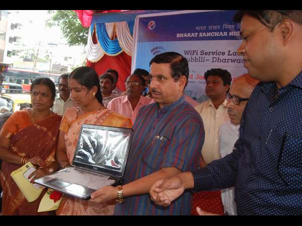 Free wi fi service starts in Hubballi old bus stand