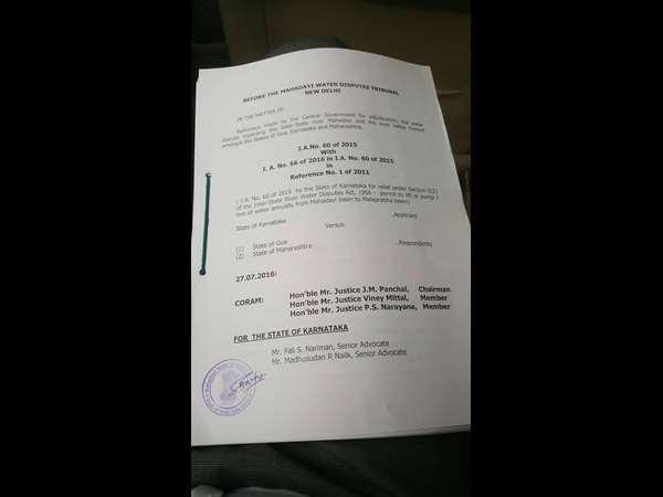 Why Mahadayi Tribunal Rejects Karnataka Plea