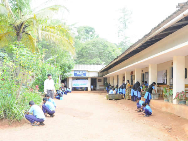 Model government school in Hakattur, Madikeri